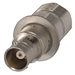 N to BNC Insulated Adapter, 75 Ohm, Inline